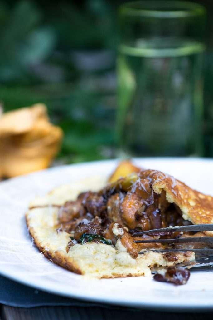Opskrift på soufflé omelet med svampe