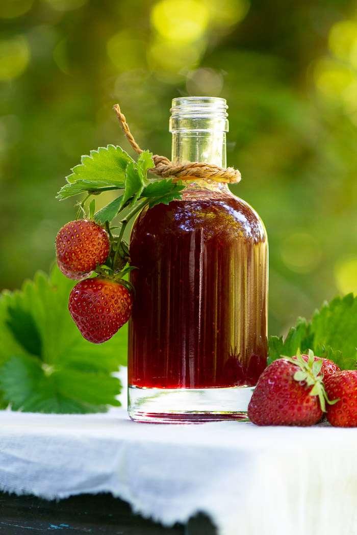 Opskrift på jordbærsirup