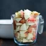 Æbletern til opskrift på æblekage