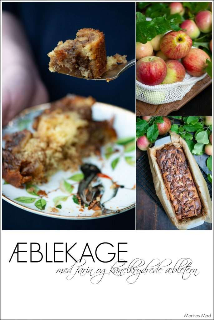 Sådan laver du æblekage med æbletern der har været vendt i kanel og farin